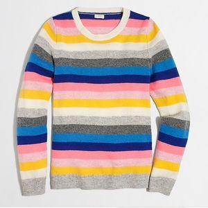 J Crew Rainbow Striped Teddie Sweater